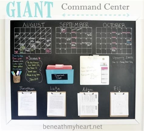 diy family command center ideas tip junkie