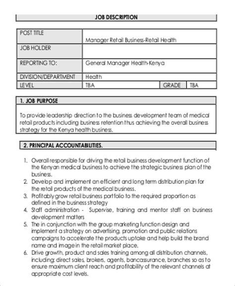 Business Development Officer Description by Sle Business Development Manager Description 9 Exles In Pdf Word