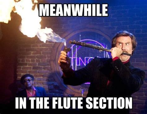 Flute Player Meme - meanwhile in the flute section band memes pinterest