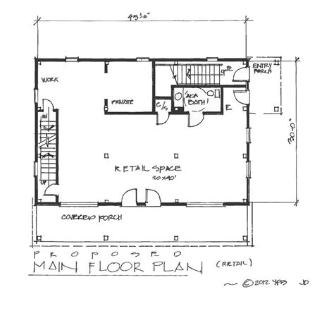 retail space floor plan carriage house plans floor sketch exle
