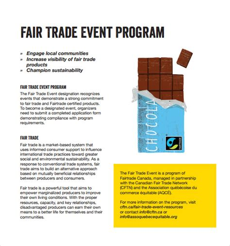 event program template sle event program template 17 free documents in pdf
