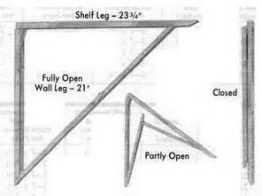 stanley shelf bracket folding v772 25 0080