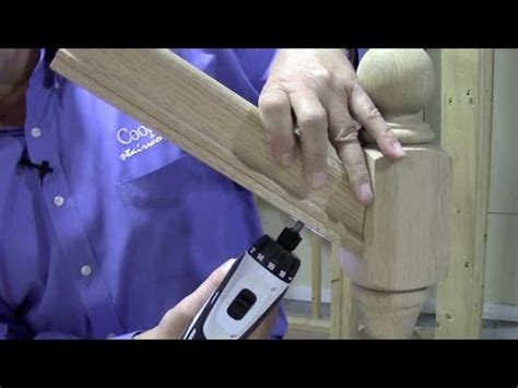 banister attachment how to connect handrail at an angle to a newel post using