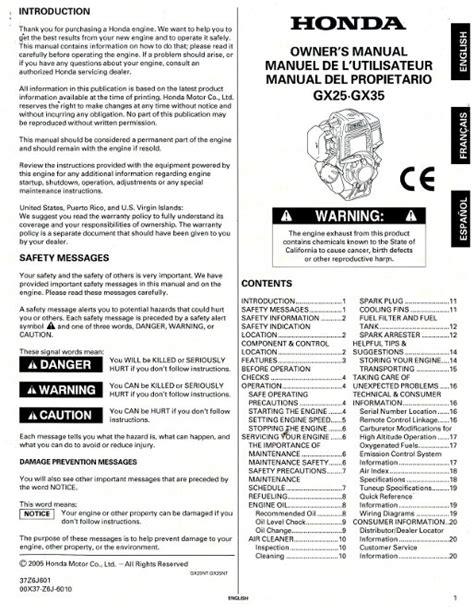small engine service manuals 2009 honda element user handbook honda gx25 gx35 engine owners manual