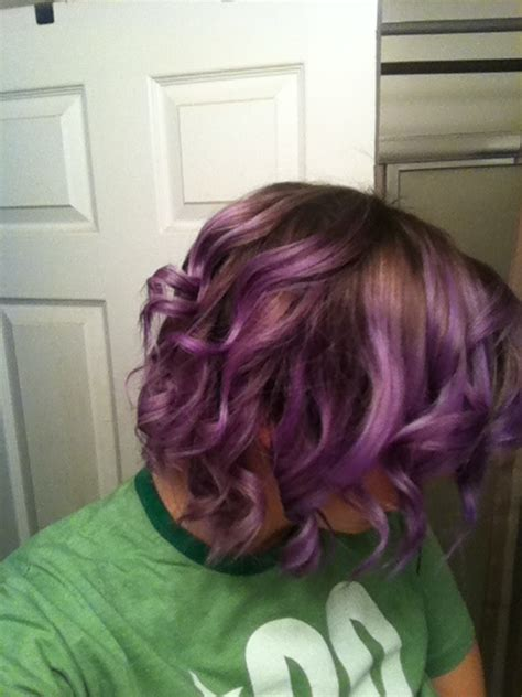 chocolate hair in hattiesburg ombr 233 on short hair and obvi purple ombre shorthair