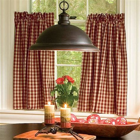 country check curtains decorating with the color red shoptalk by sturbridge