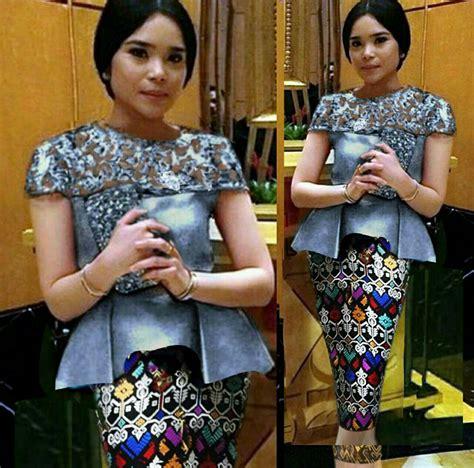 Baju Kebaya Pendek Rok Pendek setelan baju kebaya brukat dan rok pendek modern model terbaru