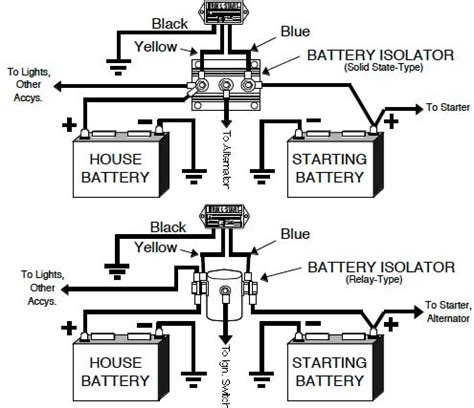 smart battery isolator wiring diagram get free image