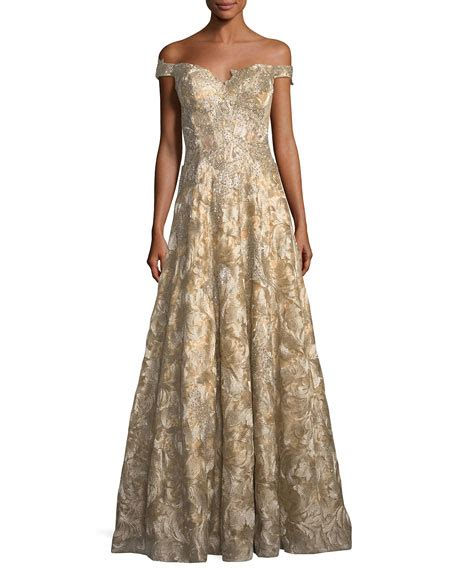 Shoulder Lace Evening Gown jovani the shoulder sweetheart lace brocade evening