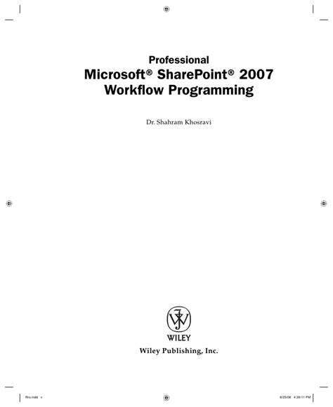 workflow programming wrox professional microsoft point 2007 workflow