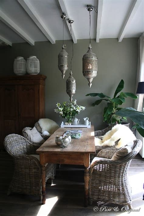 pierced moroccan lanterns eclectic dining room pure