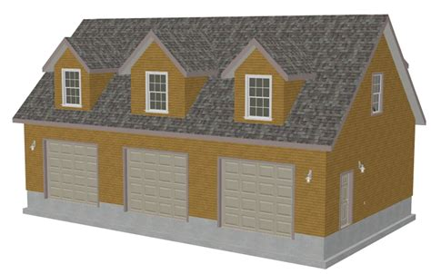 garage blueprint g445 plans 48 x 28 x 10 cape cod garage plans