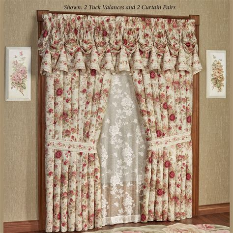 rose floral curtains heirloom rose floral window treatment