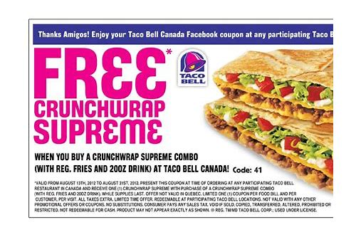 free taco bell coupons printable
