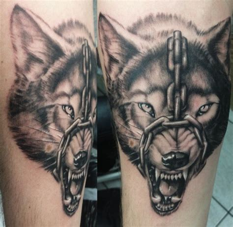 angry wolf tattoo 58 chain 35 amazing chain ideas and