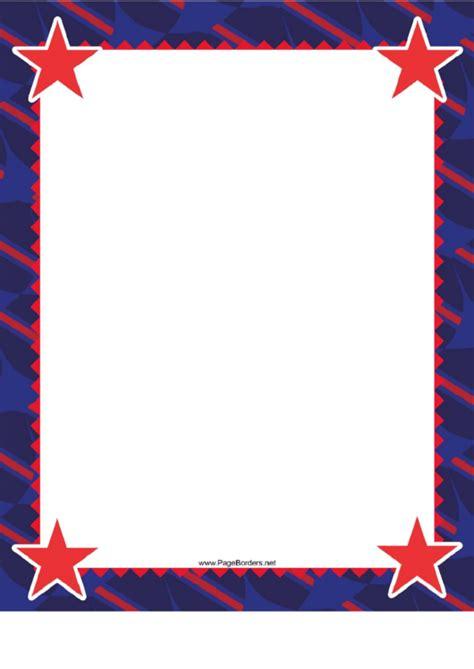 Star Border Template border template printable pdf