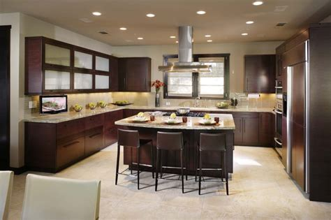 modern open plan kitchen designs open plan kitchen