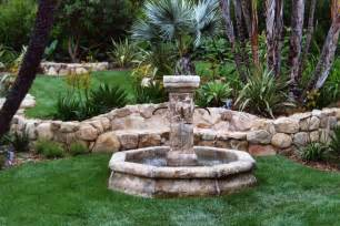 gartengestaltung mit brunnen santa barbara fountains garcia rock and water design