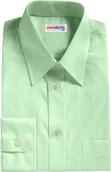 light green broadcloth dress shirt execshirts