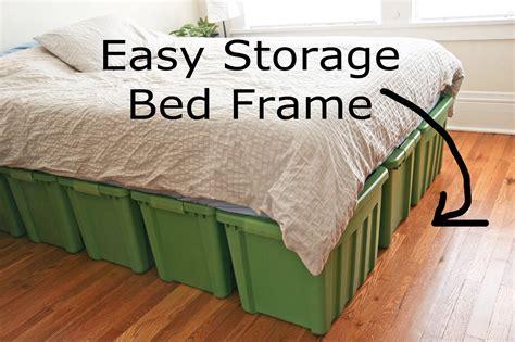 storage bed frame diy  woodworking