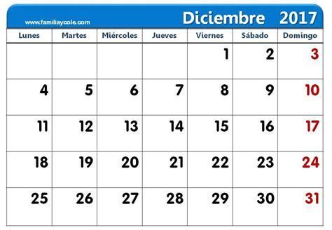 calendario 2017 mes a mes calendario 2017 para imprimir mes de diciembre 2017