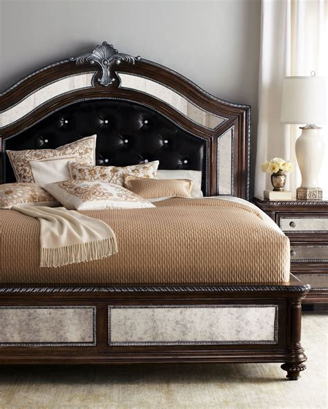 bed leather headboard style spotlight leather beds and headboards