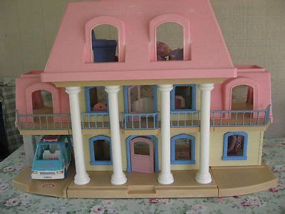 little tikes dolls house vintage little tikes grand mansion pink roof doll house w