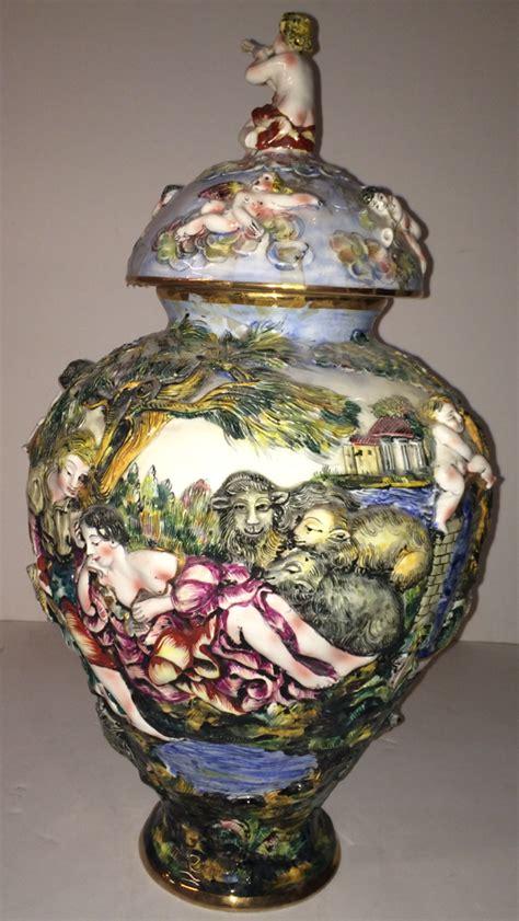 Capodimonte Urn Vase by Capodimonte Urn Vase Modernism