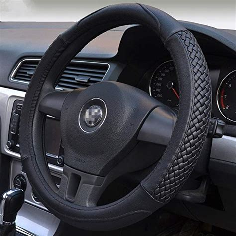 Auto Lenkradbezug by Universal 15 Inch Steering Wheel Cover Black Breathable