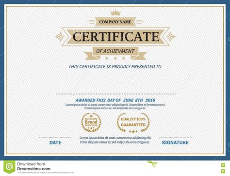 gold certificate template gold ribbon certificate diploma template vector