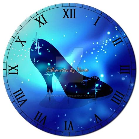 pin square clock faces on pinterest cinderella s slipper by silhouettesbymarie deviantart com