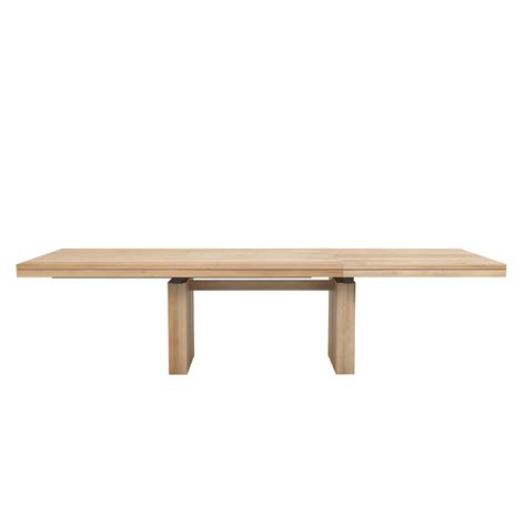oak extendable dining table 200 ethnicraft