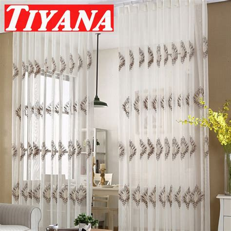 net curtains for living room european white embroidered voile curtains bedroom sheer