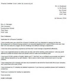 finance controller cover letter example icover org uk