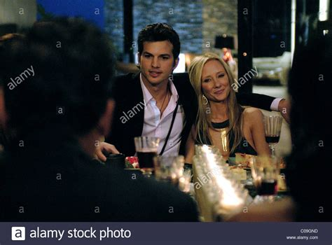 spread ashton kutcher ashton kutcher anne heche spread 2009 stock photo