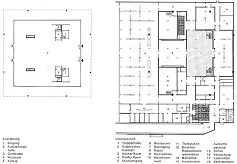 national gallery floor plan neue nationalgalerie timber in the city pinterest