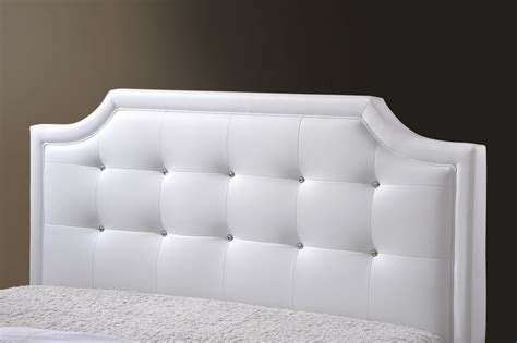white padded headboard king size baxton studio carlotta white modern bed with upholstered