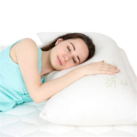 bed pillows for neck pain langria ultra plush shredded memory foam bamboo fabric
