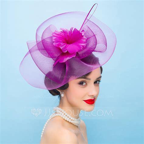 vintage wedding hair fascinators vintage net yarn with feather fascinators
