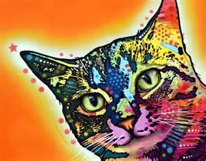 Home Decor Online Sale colorful cat portraits by dean russo hauspanther