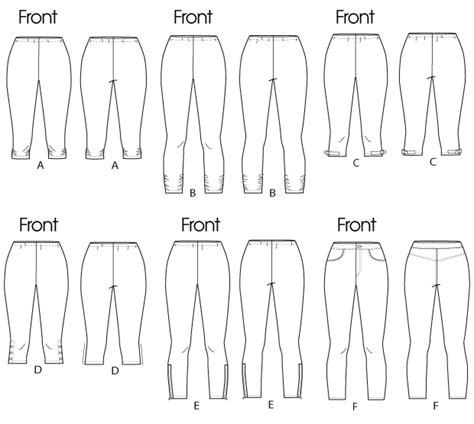 pattern review template butterick 5657 women s leggings
