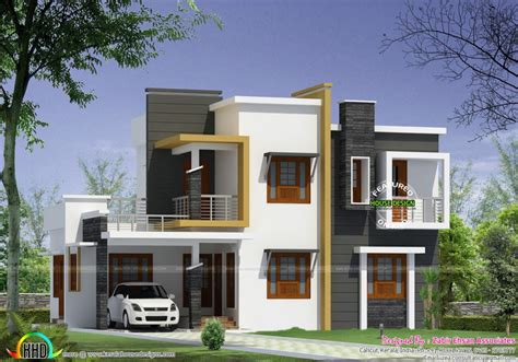 home design box type modern house plan kerala home design
