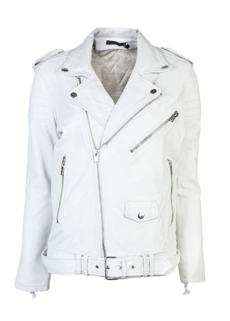 white motorbike jacket caterzo leather white biker jacket leather4sure biker