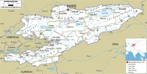 kyrgyzstan map impressum