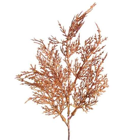 copper glitter cedar floral pick picks and stems
