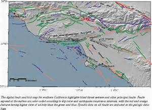 southern california fault lines map the geological setting