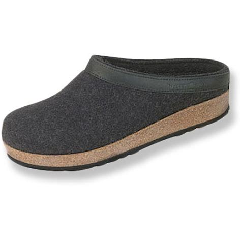 mens haflinger slippers haflinger leather trim grizzly slippers s at rei