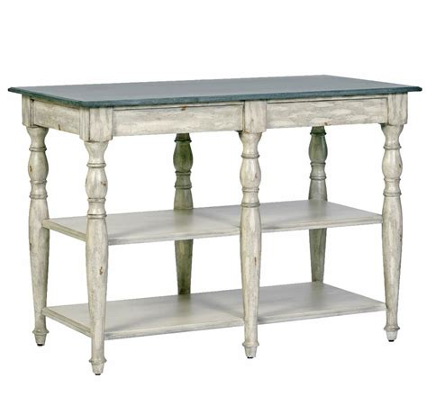 Wright french country antique distressed cream marble buffet kitchen island kathy kuo home