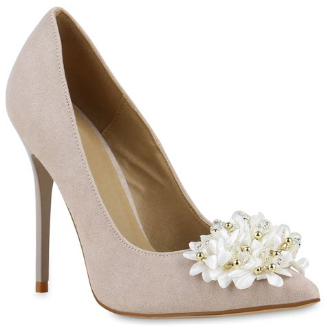 Brautschuhe Pumps Creme by Damen Pumps In Creme 814389 493 Stiefelparadies De