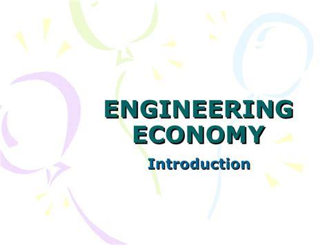 Engineering Economics For Resourcesoriginal intro to engineering economy